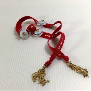 Chanel ribbon bracelet